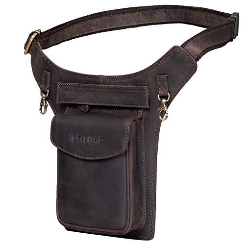 STILORD 'Frankie' Riñonera Bandolera Cuero Vintage Bolso de Cinturón Cruzada para Hombre Mujer Bolsa Cintura Piel Crossbody Bag para Fiest Deporte Viaje