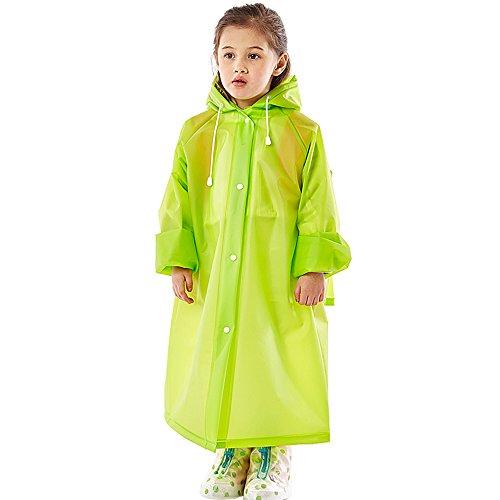 Kinderen Regen Poncho Poncho Groen Licht Kinderen Regenjas Tas Leerlingen Baby Outdoor S