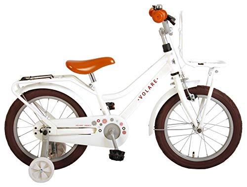 Bicicletta Bambina Ragazza Volare Liberty 16 Inch 95% Assemblata Bianco