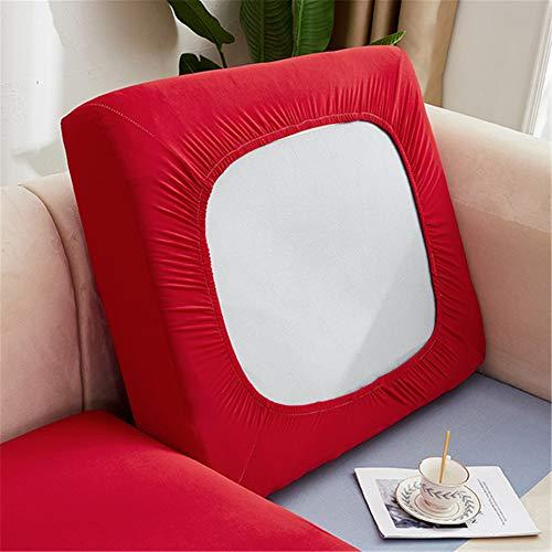 Copriseduta Divano Elastico, Fodera per Cuscino Indipendente, Fodera Coprisedile Antiscivolo, Protezione del Cuscino Sedile del Divano (Rosso,Grande 1 Posto)