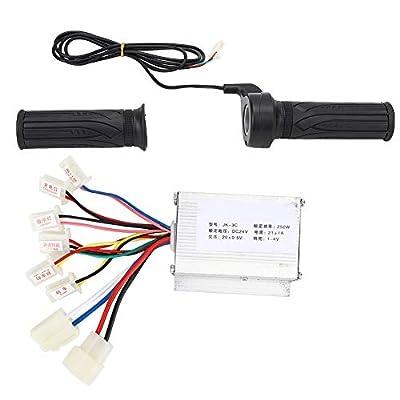 DSJSP 24V250W Brush E-Bike Controller und Long Line Universal Thumb Throttle Grip Set Zubehör Einfach zu bedienen und langlebig