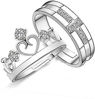 مجوهرات كورية عتيقة افتتاح تاج بسيط للرجال والنساء خاتم محبي الحلبة