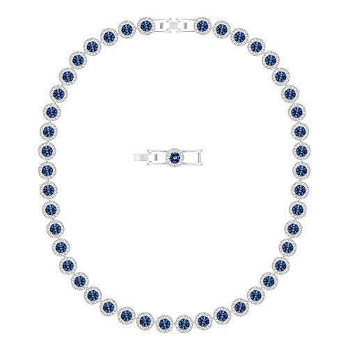 Swarovski Collana Angelic, Blu, Placcato Rodio