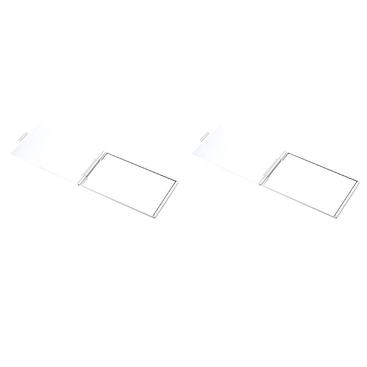 協定矢印メジャーF Fityle 2点パック 化粧鏡 ポケットミラー 鏡 メイクミラー 折りたたみ 携帯便利