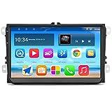 Panlelo S9 Plus Android 9.0 Autoradio 2GB RAM 32GB ROM 9 Pulgadas Pantalla Táctil Estéreo para Auto para VW Volkswagen Golf Polo Bora Passat Jetta Caddy Navegación GPS Radio Am FM RDS