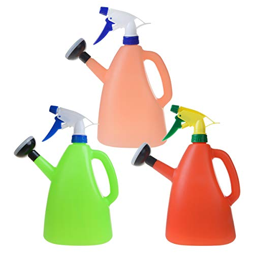 PENCK Plastic Water Cans Sprayer for Plants Indoor Outdoor - Dual-UseGardening Farmhouse Watering Can for Greenhouse Bonsai Plant Flower with SpraySpout, Easy to Use, 1.5 L Capacity, 3Pcs