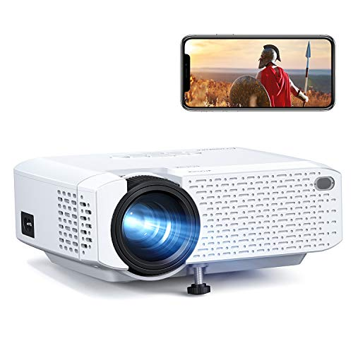 "Crosstour Mini Wi-Fi Phone Projector, Wireless Portable LED Video Projector Supports 1080P Movie, 176""Display Home Theater Screen Mirroring, Supports HDMI/USB/TV Stick/iPhone/Android/Tablet"
