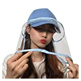 防護帽 野球帽 サンバイザー レディースフェイスカバー取り外し可能 帽子花粉・飛沫・ほこり・黄砂・粉塵対策防護帽 レインハット 防塵 キャップ ファイスカバー 釣り帽子 UVカット対策 紫外線対策 日焼け防止 おしゃれ 保護帽子 Hodarey