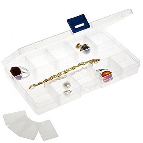Présentoirs pour Bijoux Boite de Rangement (15 Compartiments) 17,5 x 10 x 2,2 cm
