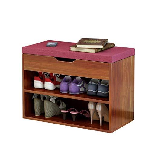 JIADUOBAO Zapatero simple zapatero Banco acolchado superior taburete moderno para el hogar, zapatero transpirable comodidad