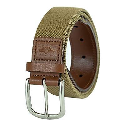 Dockers Men's 1 3/8 in. Stretch Web Belt,Khaki,34