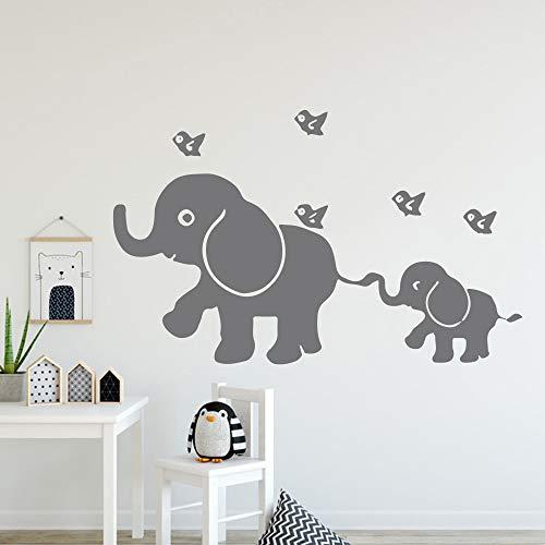 yaonuli muursticker, klassieke olifant, afneembare kinderkamerdecoratie