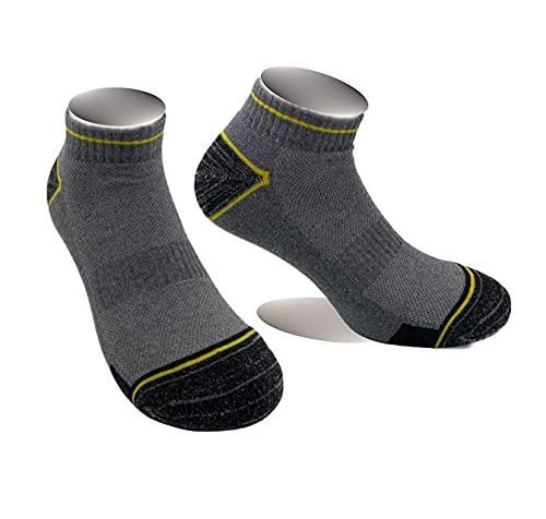 Lucchetti Socks Milano 6 paia calzini fantasmini da lavoro cotone traspiranti leggeri alla caviglia rinforzati (43-46, COL.1)