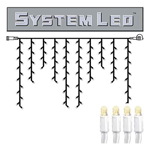 Star 466-36 System LED Stalactite-Extra, 100 L Couleur Chaud, câble: Blanc ca. 2 m x 1 m, extérieur, connectable, Boite coloré