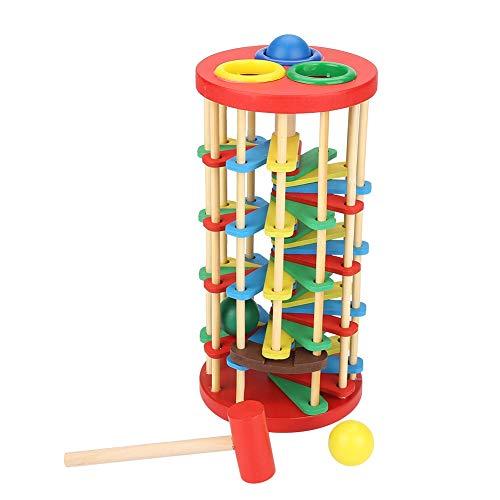 Colorati Giocattolo a Percussione in Legno Forma di Torre Musica Che Soffia Gioco con Martello Giocattoli per l'educazione Precoce Compleanno Natale Regalo per 3 4 5 6 7 Anni Bambini Ragazzi Ragazze