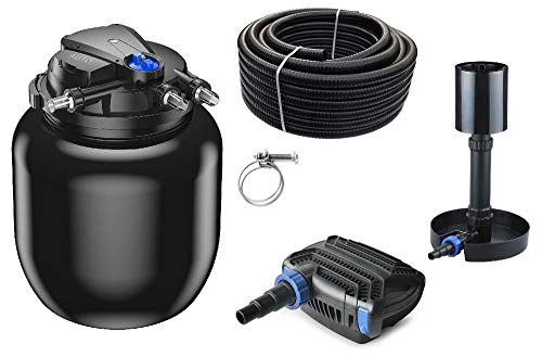 AquaOne Teich Filteranlage Set Nr.49s CPA 50000 Druckfilter 120W Eco Teichpumpe Teichgröße bis 80000l Teichschlauch Bachlauf UV Lampe