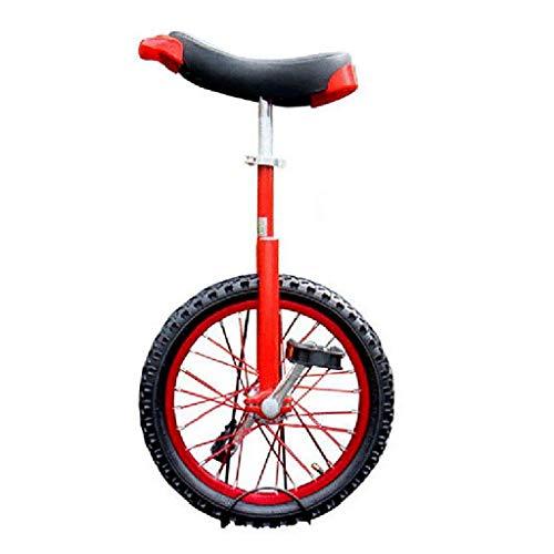 TTRY&ZHANG Adultos Altura Ajustable Freestyle Monociclo 16/18/20 Pulgadas Sola Ronda de niños Equilibrio Ejercicio en Bicicleta roja (Size : 20 Inch)