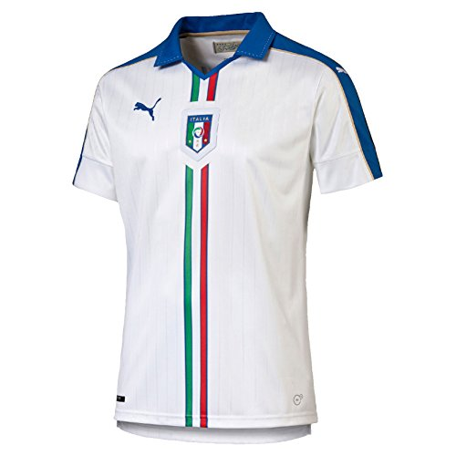 Puma Herren Trikot FIGC Italia Away Shirt Replica, White, Team Power Blue, S, 748922 02