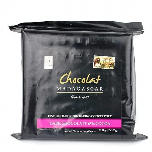 ショコラマダガスカル クーベルチュール チョコレート (ダーク65%, 1KG)
