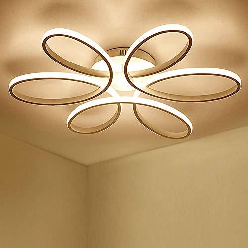 LED 75W Blume-Shape Deckenleuchte Creative Acryl Aluminium Lampenschirm Modern Elegante Matt Gold Deckenlampe Wohnzimmer Esszimmer Schlafzimmer Deckenleuchte Dimmbar 3000K-6000K L58cm * H11cm