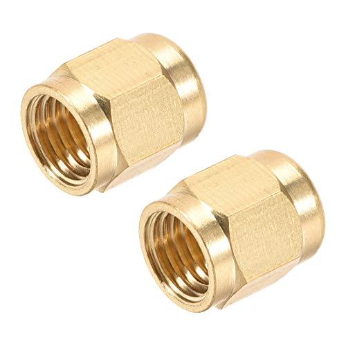 uxcell Brass Tubing Nut Tube Fitting Compression Insert Hydraulic Nuts M8x4mm 2pcs