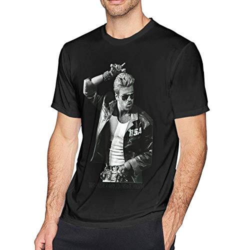 IUBBKI Camiseta básica de Manga Corta para Hombre Choose Life George Michaels-Edit Men's Short Sleeve T-Shirt Cotton