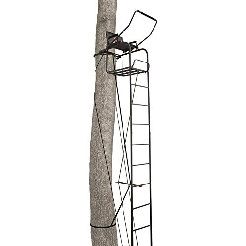 Primal Tree Stands Single Vantage Deluxe 17' Ladder Tree Stand with Jaw and Truss Stabilizer System