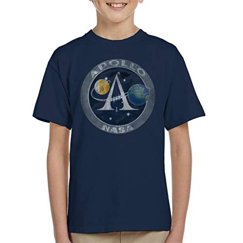 Nasa Apollo Program Logo Badge Distressed Kid's T-Shirt