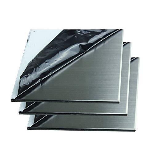 SOFIALXC 304 Lámina De Acero Inoxidable Cepillado 80x80mm/3.15x3.15inch-Thickness: 2mm 5PCS