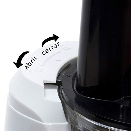 Cecotec 04038 Cecojuicer Compact - Licuadora de Prensado en Frío, 45 rpm, 3 posiciones, Tambor de Tritan, BPA Free, Tapón antigoteo, 2 Salidas para el Zumo, Sistema de seguridad, 120 W