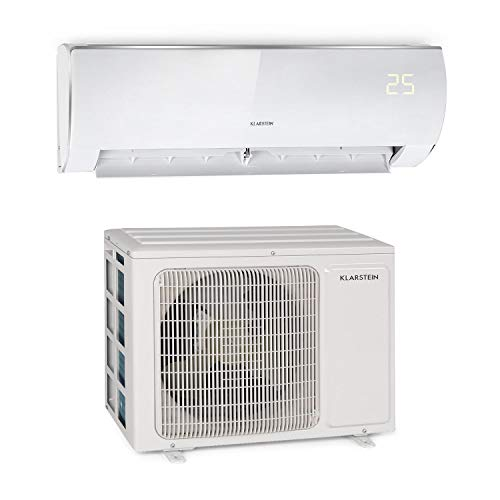 Klarstein Windwaker Eco Split - Air Conditioning, Heating & Cooling, Energy Efficiency Classes: A ++ / A +, 5 Operating Modes, 3 Sleeping Modes, LED, Remote, 9,000 BTU / 2.7 kW, Air Flow: 610 m³ / h,