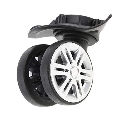 perfk 2 Pcs Ersatz Gepäck Räder, Koffer Roller Skate Roller Rad Reparatur Kits, Reisekoffer Rolle Transportrollen Doppelrollen