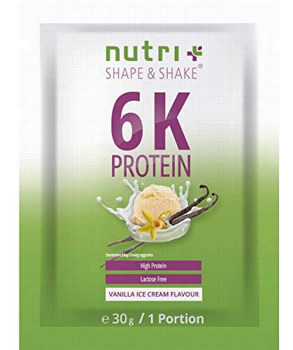 Mehrkomponenten Proteinpulver VANILLE EISCREME - laktosefreie Eiweißquelle 82,2% Eiweiß - Protein Pulver 30g - Muskel-Shake Vanilla Ice Cream - Proteinkomplex - Probe Eiweißpulver