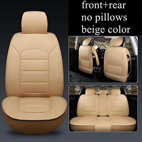Funda de Asiento de Coche para BMW E30 E34 E90 E60 E39 E36 E87 F30 M5 F10 E46 X5 E53 E70 G30 Ford Focus Ranger Kuga Focus 2 Fiesta Focus 3,5 Asiento Beige estándar, 5 Asientos Beige sta