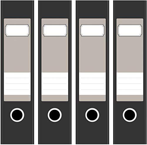 4 x farbige Akten-Ordner Etiketten/Aufkleber/Rücken Sticker/Farbe Hellbraun/Beige/für breite Ordner/selbstklebend / 6cm breit