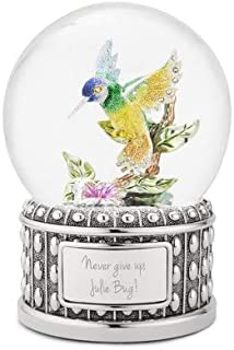 Things Remembered Personalized Jeweled Hummingbird Musical Snow Globe with Engraving Included