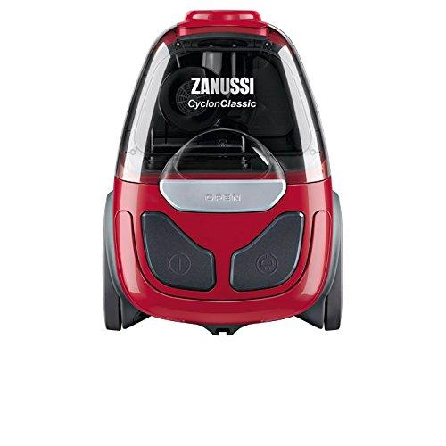 Zanussi ZAN1900EL Drum vacuum cleaner 800W B Negro, Gris, Rojo - Aspiradora (Drum vacuum, B, Secar, Hogar, Alfombra, Suelo duro, G)