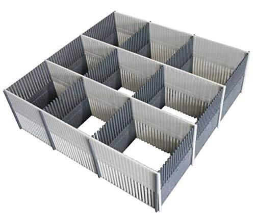 PurVario Stauleiste für Schubladen 100 MAXXI 8er-Set grau, hellgrau