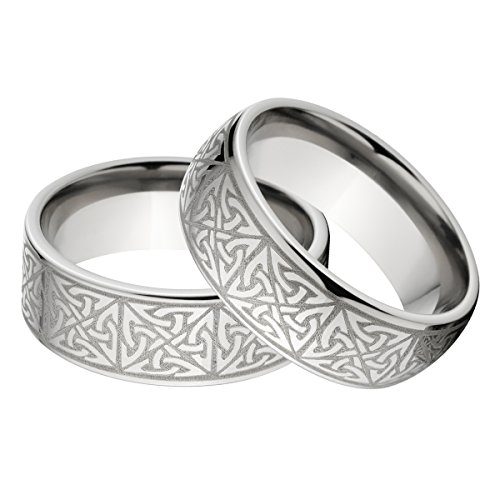 New His and Her's Matching Celtic Ring Set, Celtic Wedding Rings
