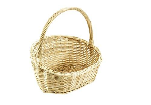 Kobolo Dekorativer Geschenkkorb Präsentkorb aus geflochtener Weide - hell