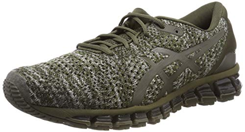 Asics Gel-Quantum 360 Knit 2, Zapatillas de Running Hombre, Verde (Dark Olive/Dark Olive 300), 50.5 EU