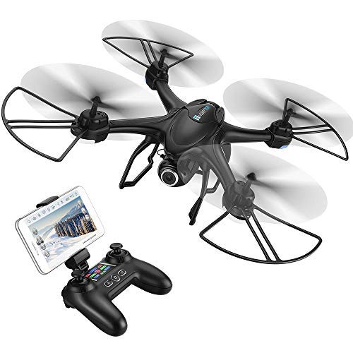 HOBBYTIGER H301S Ranger Drone with Camera Live Video and GPS Return Home 720P HD Wide-Angle WiFi Camera for Kids, Beginners - Follow Me, Altitude Hold, Long Control Range