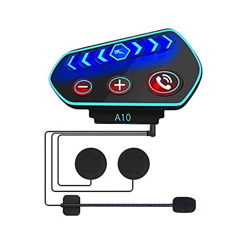 TIZJ Casco de Motocicleta Auriculares Bluetooth Auriculares Separados modificados incorporados Música Auriculares Bluetooth inalámbricos Impermeables