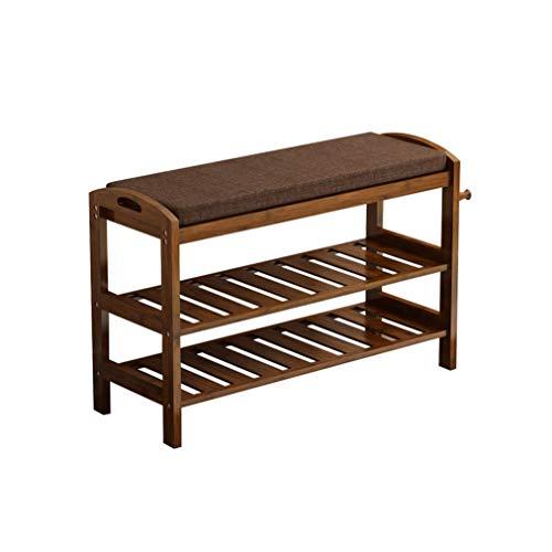 ZAIHW Zapatero de madera, estante de zapatos de varias capas a prueba de polvo, simple para ahorrar espacio en el hogar, estante de almacenamiento, zapatero multifuncional (tamaño: 51 x 29 x 50 cm)