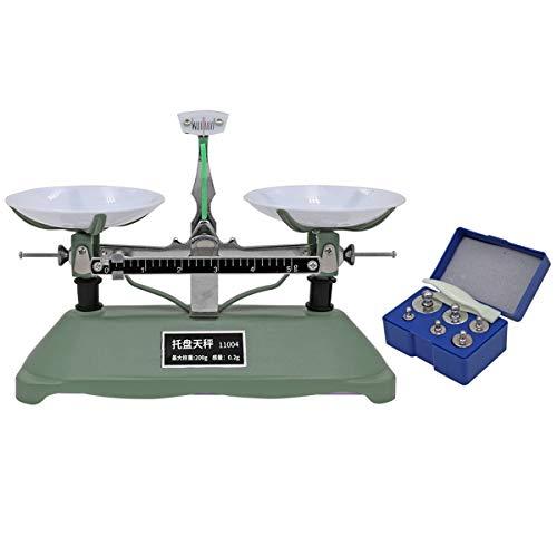 200g mecánica de pesaje de mesa Balanzas Balanzas de paleta Balanzas Kit con 5g 10g 20g 50g 100 Laboratorio Calibración Peso