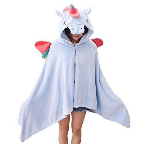 SMNHSRXH 1 stuks eenhoorn-bekledingsset voor Halloween-kostuum voor volwassenen, voor dekens, heren, kinderen, dieren, warme omhanging, tas