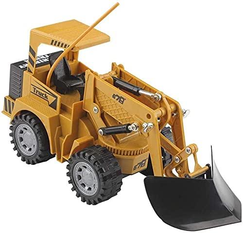 M-zen Niños Niños Juguete Control Remoto Bulldozer Loader RC Car Truck Excavadora...