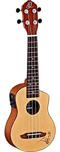 Ortega Guitars RU5CE-SO RU Series Soprano Ukulele with Spruce Top, Sapele Body, and Pickup