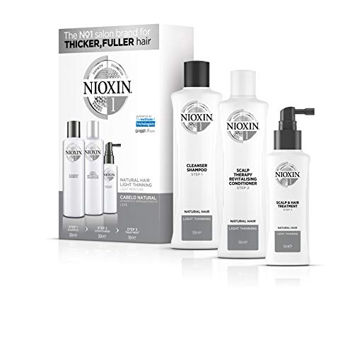 Kit Sistema 1 Shampoo 300ml, Condicionador 300ml e Leave-In 100ml, Nioxin, Normal