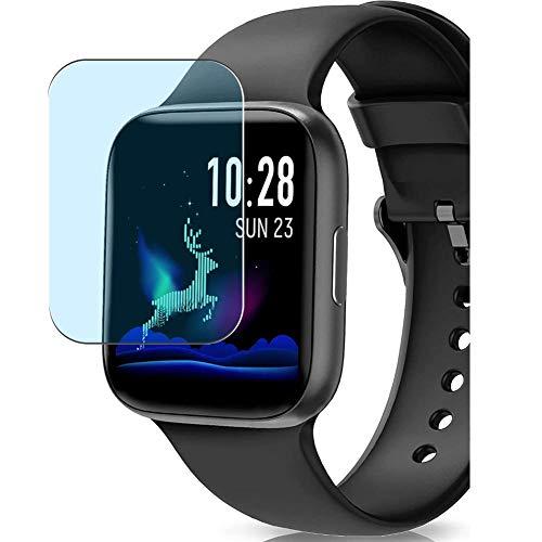 """Vaxson 3 Unidades Protector de Pantalla Anti Luz Azul, compatible con BANLVS 1.54"""" smartwatch Smart Watch [No Vidrio Templado] TPU Película Protectora"""